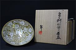 加藤卓男 ラスター彩胡姫文茶碗